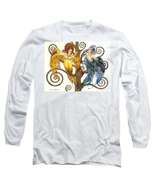 Mythological Birds-women Alconost And Sirin- Elena Yakubovich  Long Sleeve T-Shirt