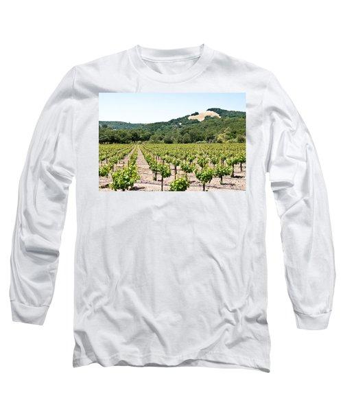 Napa Vineyard With Hills Long Sleeve T-Shirt