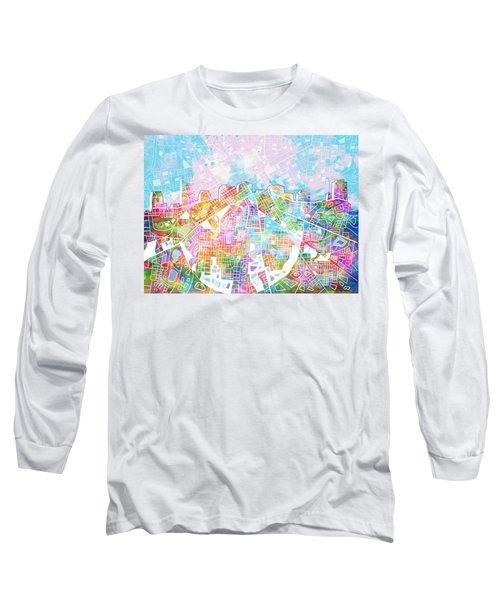 Nashville Skyline Watercolor 8 Long Sleeve T-Shirt