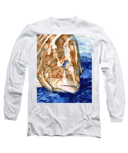 Nassau Grouper Portrait Long Sleeve T-Shirt