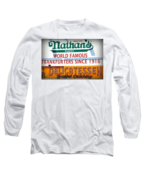 Nathan's Sign Long Sleeve T-Shirt by Valentino Visentini