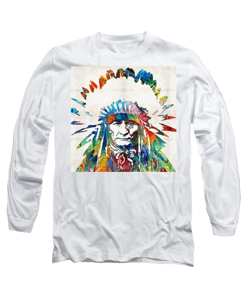 Native American Art - Chief - By Sharon Cummings Long Sleeve T-Shirt