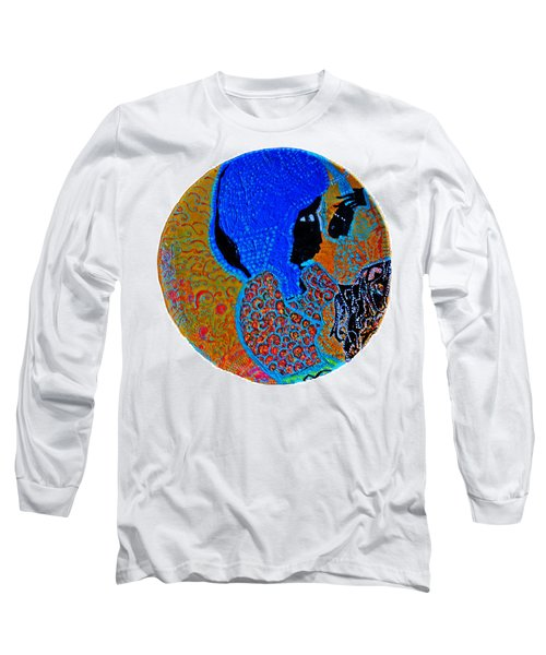 Long Sleeve T-Shirt featuring the painting Nativity Of Jesus by Gloria Ssali