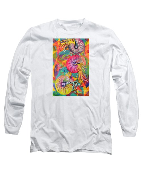 Long Sleeve T-Shirt featuring the painting Nautilus by Lyn Olsen
