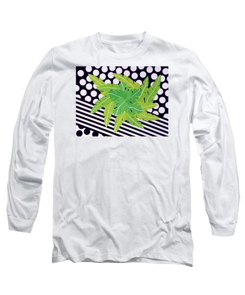 Long Sleeve T-Shirt featuring the painting Negative Green by Thomas Gronowski
