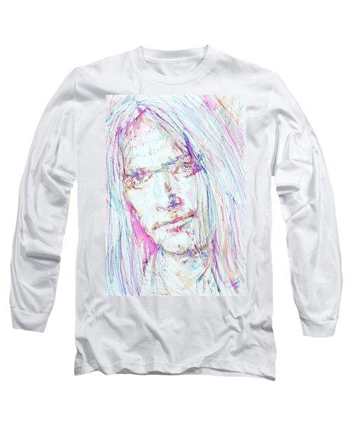 Neil Young - Colored Pens Portrait Long Sleeve T-Shirt