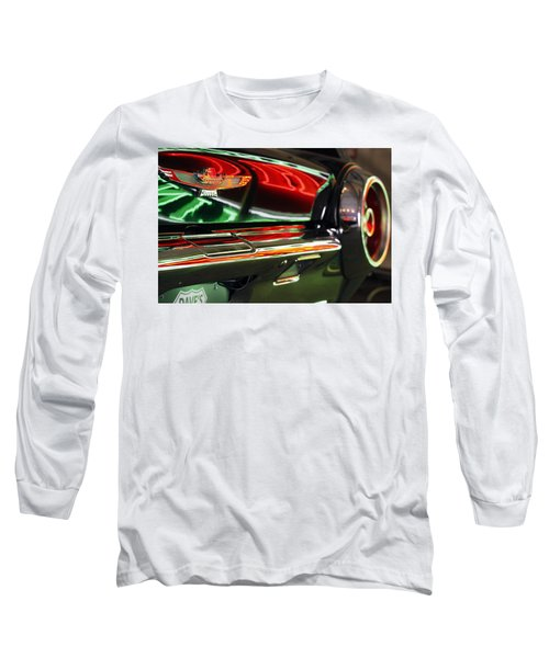 Long Sleeve T-Shirt featuring the photograph Neon Reflections by Shoal Hollingsworth
