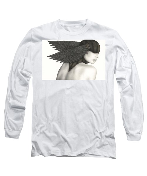 Long Sleeve T-Shirt featuring the painting Nevermore by Pat Erickson
