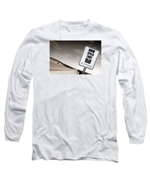 New Limits Sepia Long Sleeve T-Shirt by David Jackson