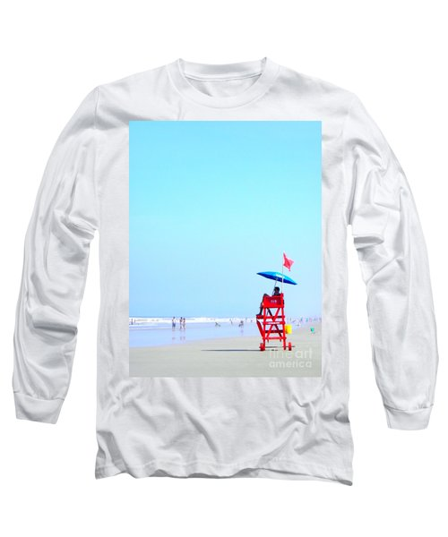 New Smyrna Lifeguard Long Sleeve T-Shirt by Valerie Reeves