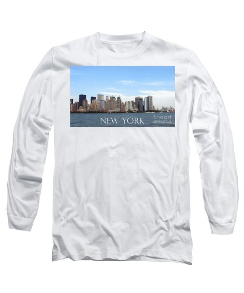 Long Sleeve T-Shirt featuring the photograph New York As I Saw It In 2008 by Ausra Huntington nee Paulauskaite