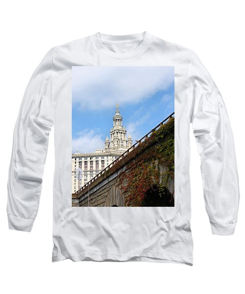 Long Sleeve T-Shirt featuring the photograph New York City Hall by Kristin Elmquist