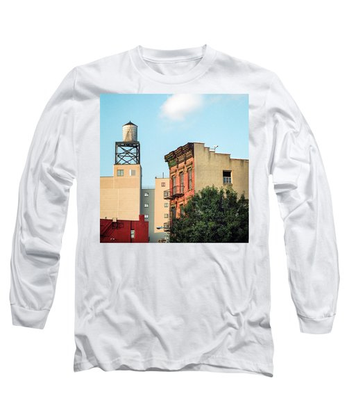 Long Sleeve T-Shirt featuring the photograph New York Water Tower 3 by Gary Heller