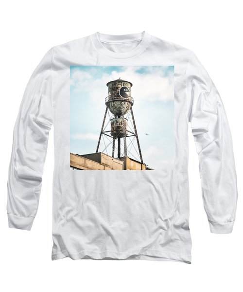 Long Sleeve T-Shirt featuring the photograph New York Water Towers 9 - Bed Stuy Brooklyn by Gary Heller
