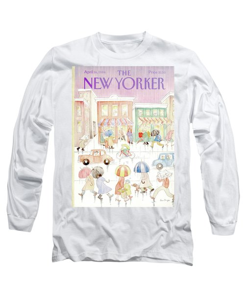 New Yorker April 16th, 1984 Long Sleeve T-Shirt