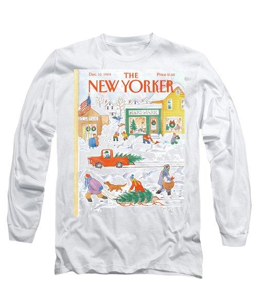New Yorker December 10th, 1984 Long Sleeve T-Shirt