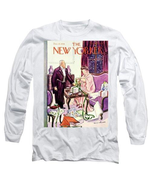 New Yorker December 14 1940 Long Sleeve T-Shirt