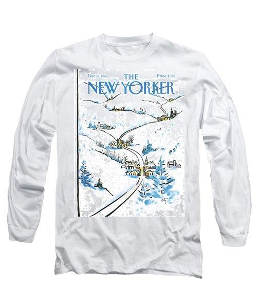 New Yorker December 8th, 1986 Long Sleeve T-Shirt
