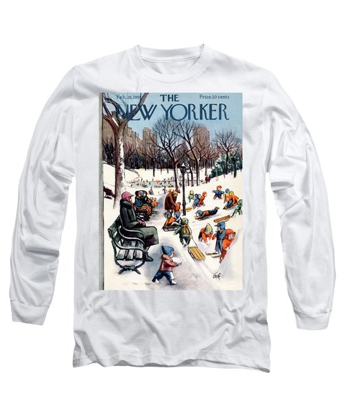 New Yorker February 26th, 1955 Long Sleeve T-Shirt