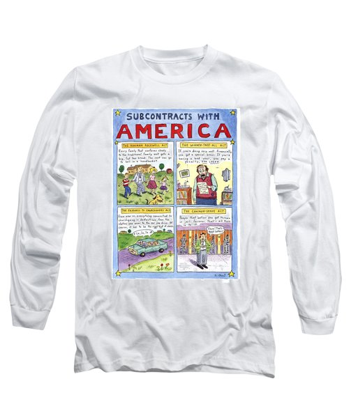New Yorker January 16th, 1995 Long Sleeve T-Shirt by Roz Chast