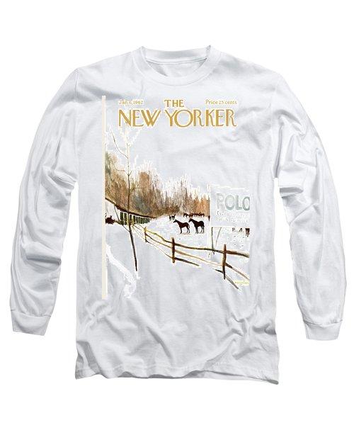 New Yorker January 6th, 1962 Long Sleeve T-Shirt
