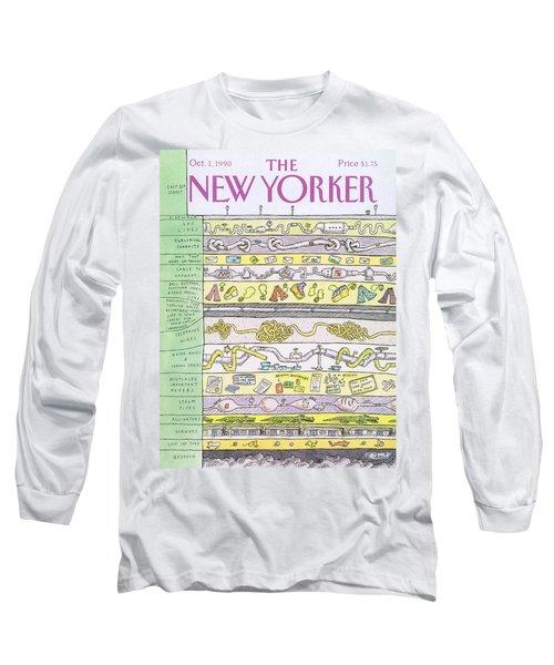 New Yorker October 1st, 1990 Long Sleeve T-Shirt