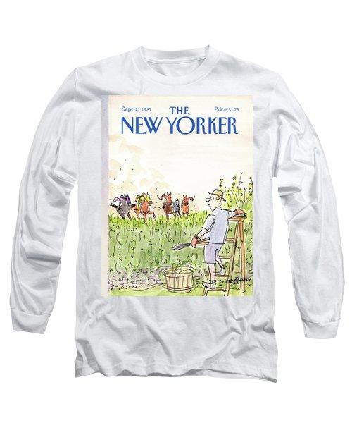 New Yorker September 21st, 1987 Long Sleeve T-Shirt