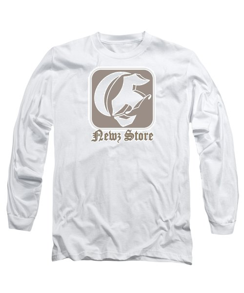 Long Sleeve T-Shirt featuring the drawing Eclipse Newspaper Store Logo by Dawn Sperry
