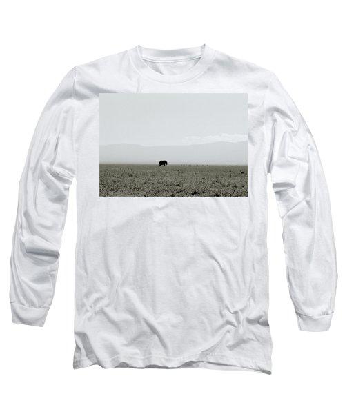 Ngorongoro Crater Long Sleeve T-Shirt by Shaun Higson