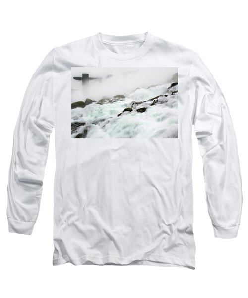 Niagara Falls With Observation Tower Behind Long Sleeve T-Shirt