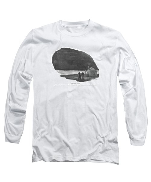 Night Watch  I See Him! About Halfway Long Sleeve T-Shirt