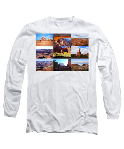 Nine Utah Landmarks Long Sleeve T-Shirt by Catherine Sherman