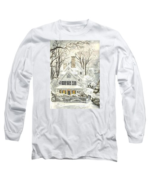 No Place Like Home For The Holidays Long Sleeve T-Shirt by Carol Wisniewski
