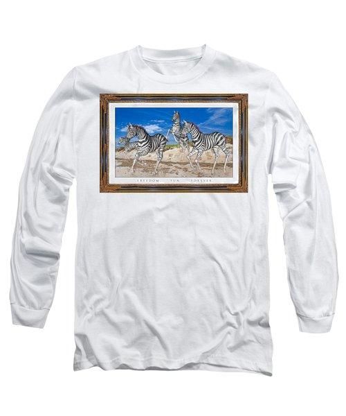 No Zoo Zebras Long Sleeve T-Shirt