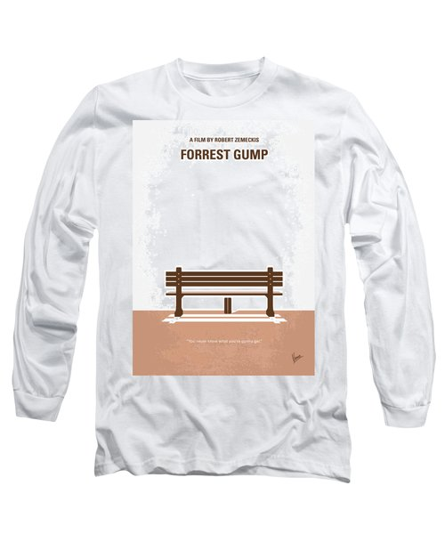 No193 My Forrest Gump Minimal Movie Poster Long Sleeve T-Shirt by Chungkong Art