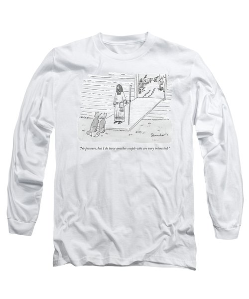 Noah Addresses Two Foxes At The Entrance Long Sleeve T-Shirt