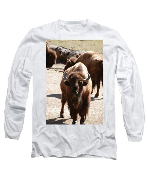 North American Bison Long Sleeve T-Shirt by DejaVu Designs