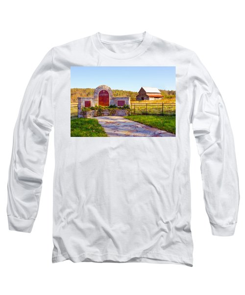 Long Sleeve T-Shirt featuring the photograph Landscape Barn North Georgia by Vizual Studio