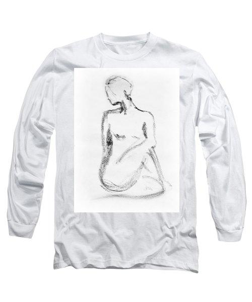 Nude Model Gesture Vi Long Sleeve T-Shirt