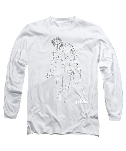 Nude_male_drawing_30 Long Sleeve T-Shirt