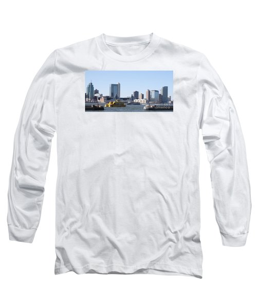Long Sleeve T-Shirt featuring the photograph Ny Waterways by John Telfer
