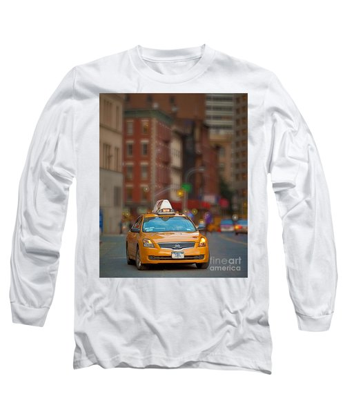 Taxi Long Sleeve T-Shirt by Jerry Fornarotto