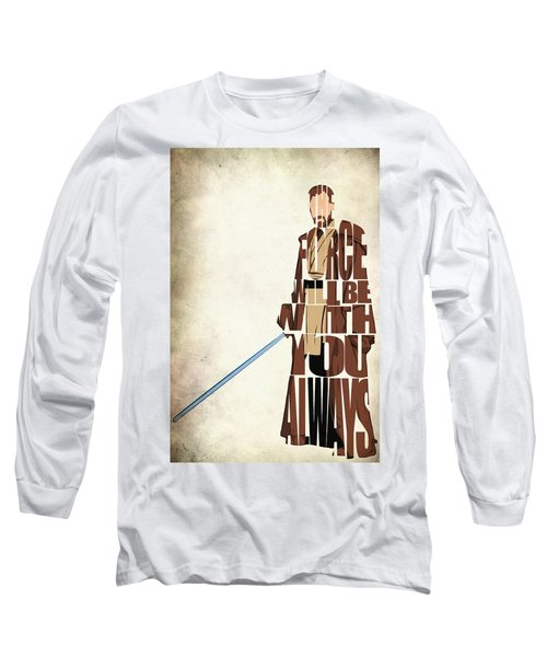 Obi-wan Kenobi - Ewan Mcgregor Long Sleeve T-Shirt by Ayse Deniz