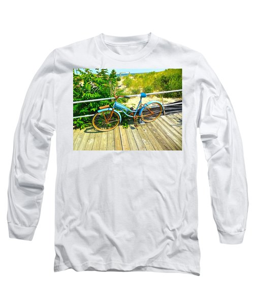 Long Sleeve T-Shirt featuring the photograph Ocean Grove Bike by Joan Reese