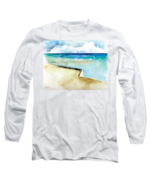 Ocean Pier In Key West Florida Long Sleeve T-Shirt by Catherine Twomey