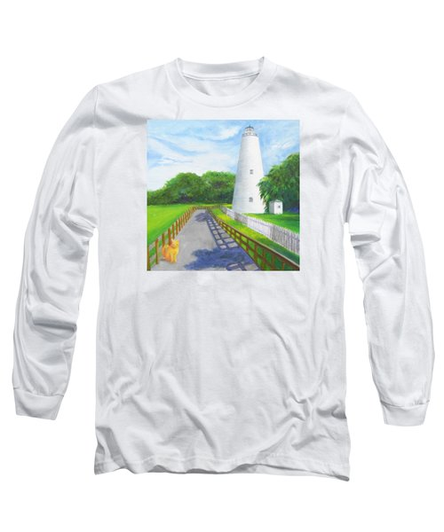 Ocracoke And Friend Long Sleeve T-Shirt by Anne Marie Brown