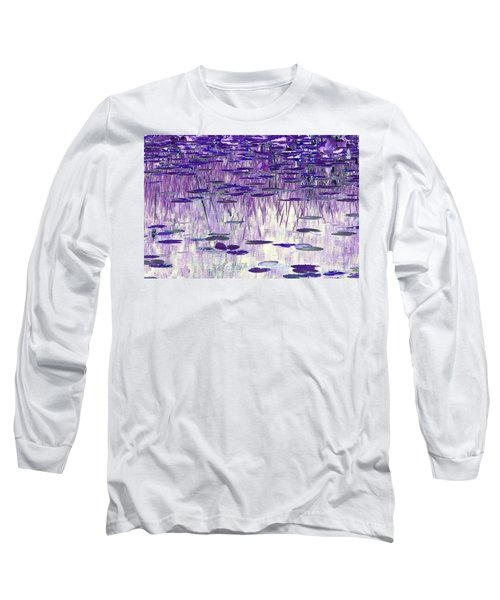 Ode To Monet In Purple Long Sleeve T-Shirt by Chris Anderson