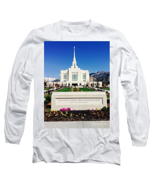 Long Sleeve T-Shirt featuring the photograph Ogden Temple 1 by Richard W Linford