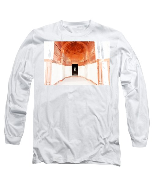 Oil Painting - Doorway In Humayun Tomb Long Sleeve T-Shirt