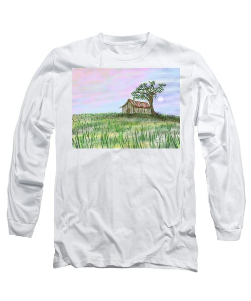 Old Barn Long Sleeve T-Shirt by Stacy C Bottoms